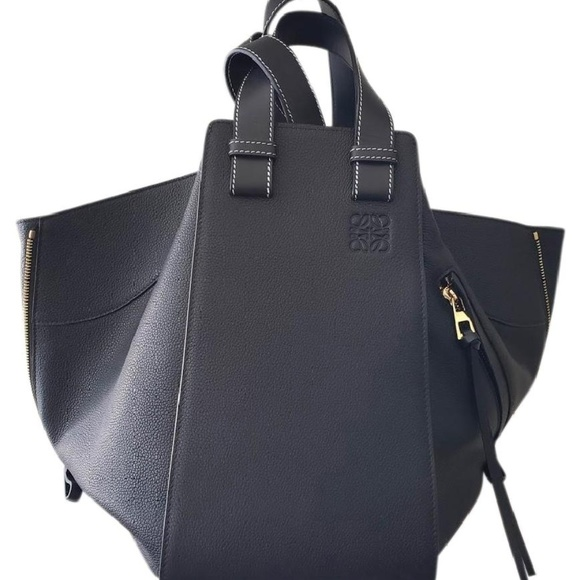 54899affdc Loewe Large Hammock Leather Shoulder Bag - Black